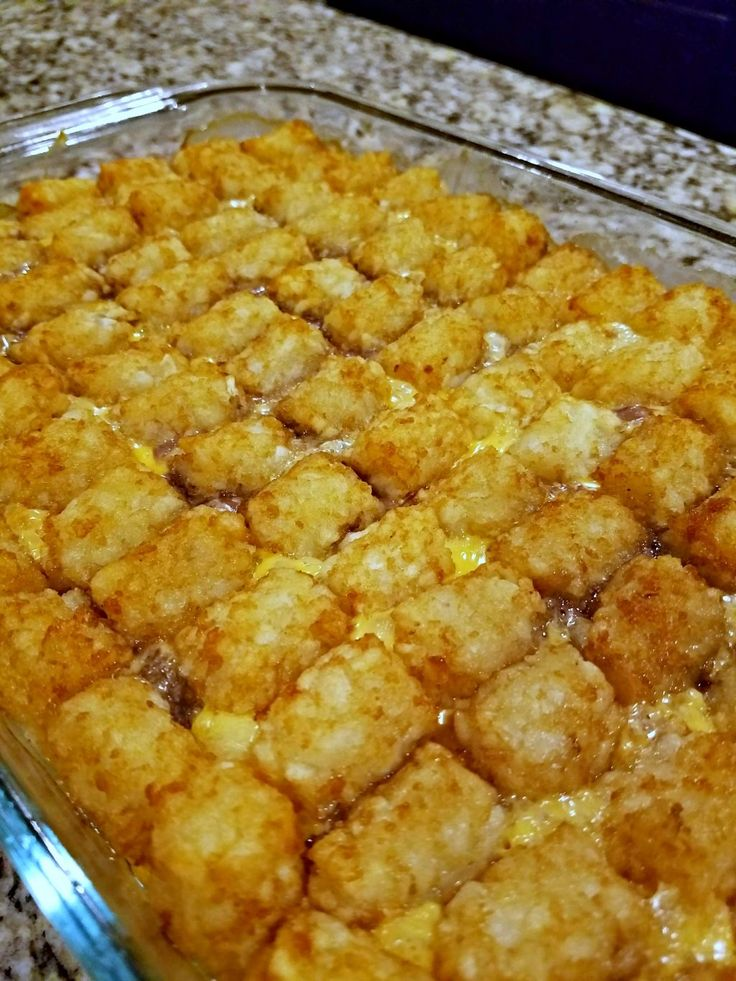 Here is an easy comfort food dinner recipe for everyone's favorite tater tot casserole! It's only a few ingredients and perfect for families!
