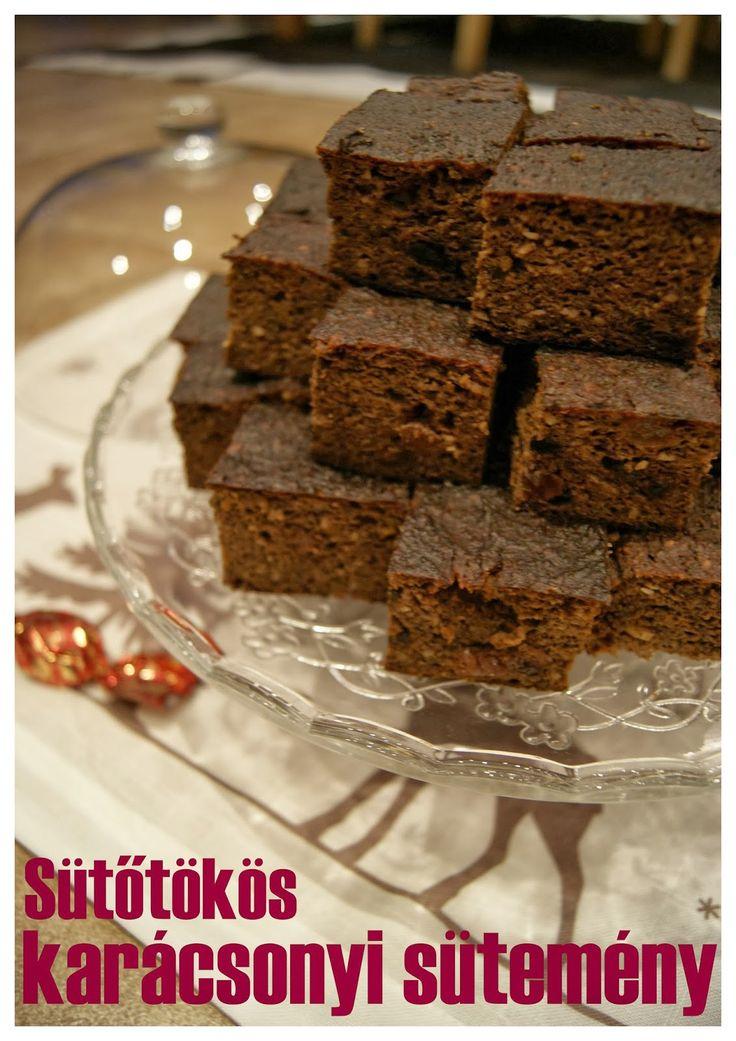 PaleoKonyha a Vizilóhoz ^^: Sütőtökös csokoládés karácsonyi sütemény