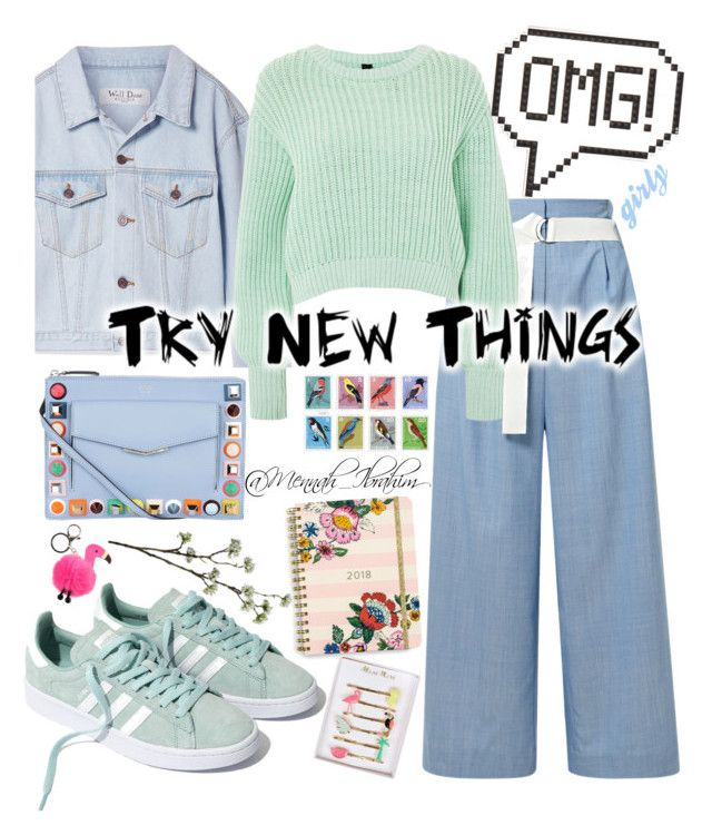 """""""#OMG #Girly #Casual_Friday"""" by mennah-ibrahim on Polyvore featuring TIBI, We11Done, Topshop, Fendi, Madewell, Molo, Debbie Bliss, Anya Hindmarch, Vera Bradley and Wyld Home"""