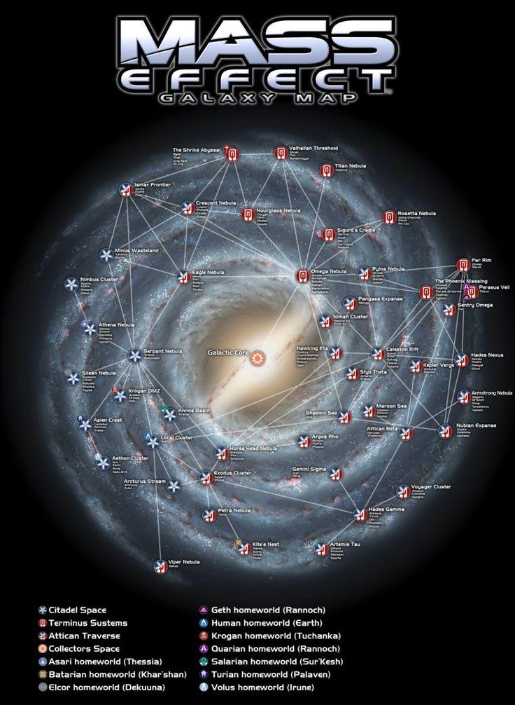 Mass Effect Galaxy Map by Engorn