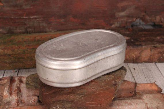 Sandwich Box, Aluminium foodbox, Vintage Aluminium Lunch Box, Old Food box, Vintage storage container, Farmhouse decor, Gift for Tourists