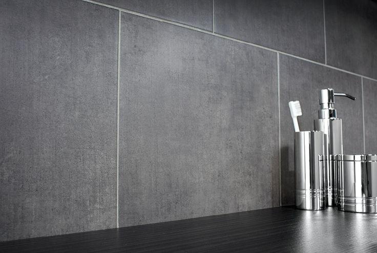 Silver cloud floor tiles used on the wall #bathroomfurniture #tiles #myutopia