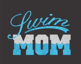 Swim Mom Shirt by TotallyTanks on Etsy
