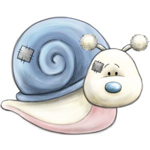 Scoot... the adventurous little Snail who loves to travel… but don't worry, he won't be going anywhere fast!