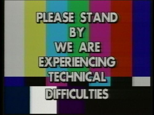 Image result for tv technical difficulties slide