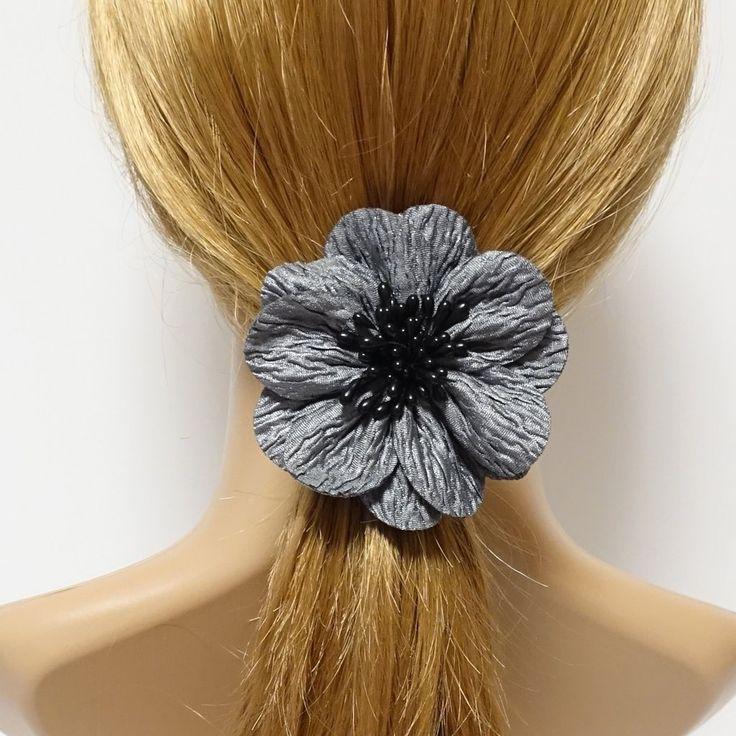 Handmade Wrinkle Petal Pistil Flower Hair Elastic Ponytail Holder – veryshine.com