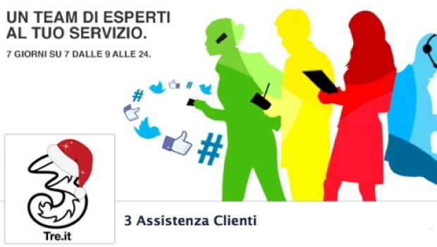 3 Italia, l'assistenza clienti si fa su Facebook