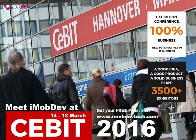 Take your seat for World's largest #tech fair #cebit 2016 & visit iMOBDEV there.