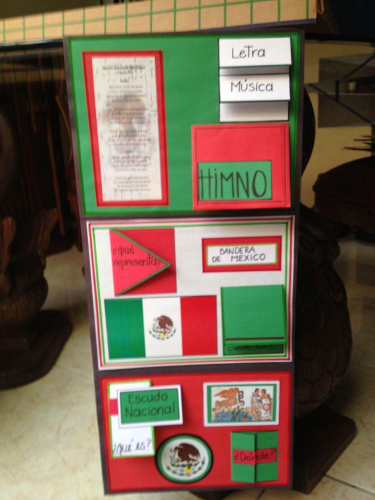 Foldable símbolos patrios mexicanos!!!!