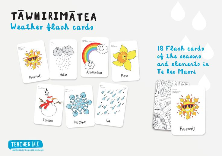 Flash Cards - Learning the seasons and weather in Te Reo Maori