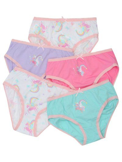 1475db5cc340 Unicorn Briefs Five Pack | Kids Accessories | M&Co | Panty in 2019 ...