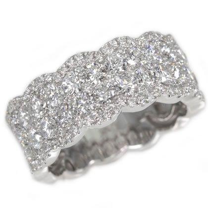 18K White Gold Diamond Ladies Wedding Ring