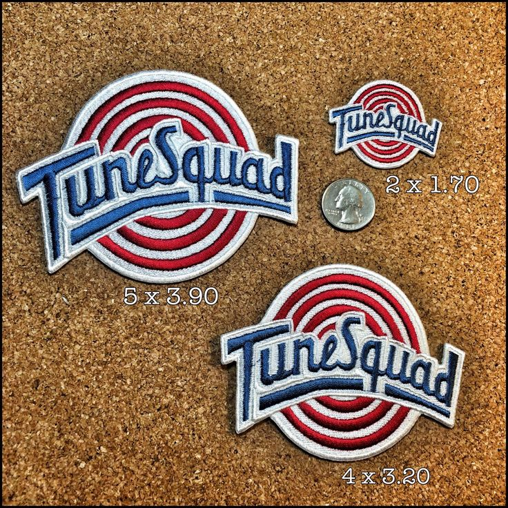 TuneSquad custom Embroidered Patch Multi Sizes by HeRbjuiceproductions on Etsy https://www.etsy.com/listing/153674064/tunesquad-custom-embroidered-patch-multi