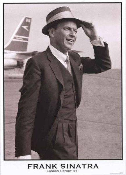 Come Fly with Frank Sinatra in this classy poster of the legendary crooner at the airport in London in 1961! Ships fast. 24x33 inches. Check out the rest of our fantastic selection of Frank Sinatra po