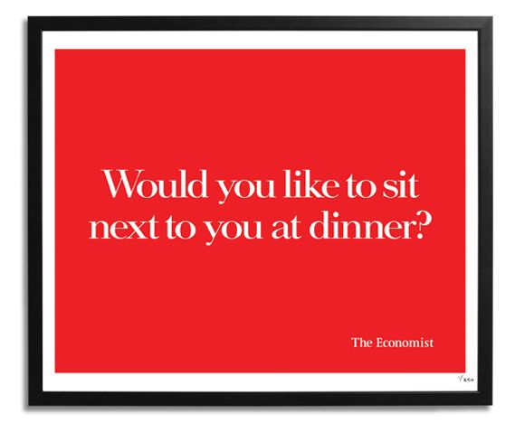 Adverts for The Economist