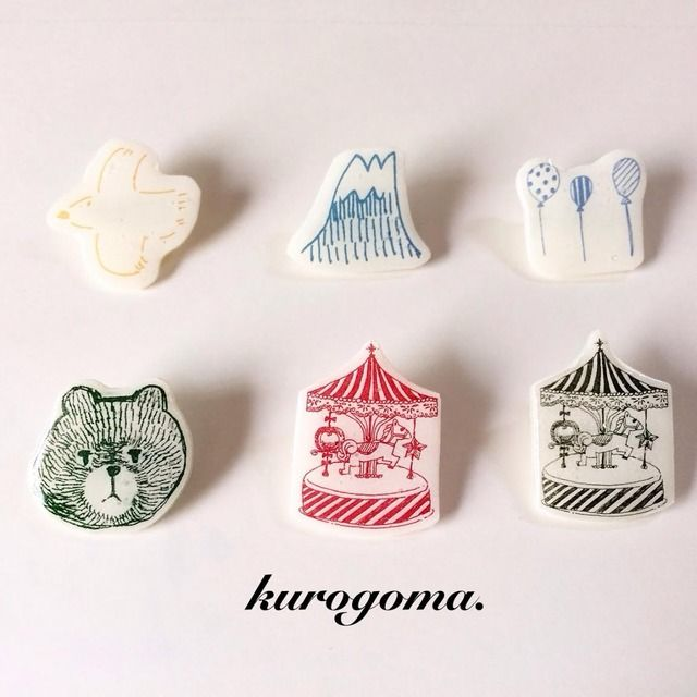 【new】kurogoma.ブローチ
