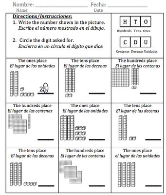 10 best math images on Pinterest Math activities, 1st grades and - place value worksheet
