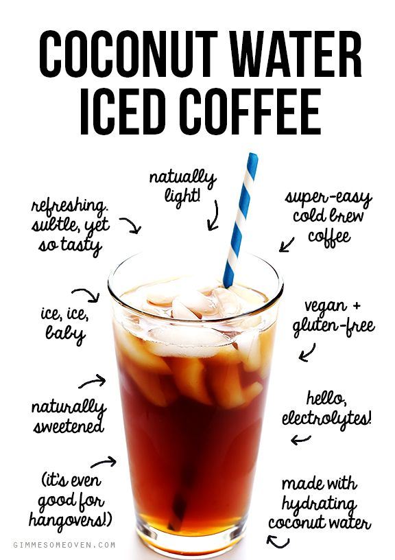 This coconut water iced coffee recipe is easy to make, and naturally sweetened with the delicious flavor (and hydrating benefits) of coconut water.