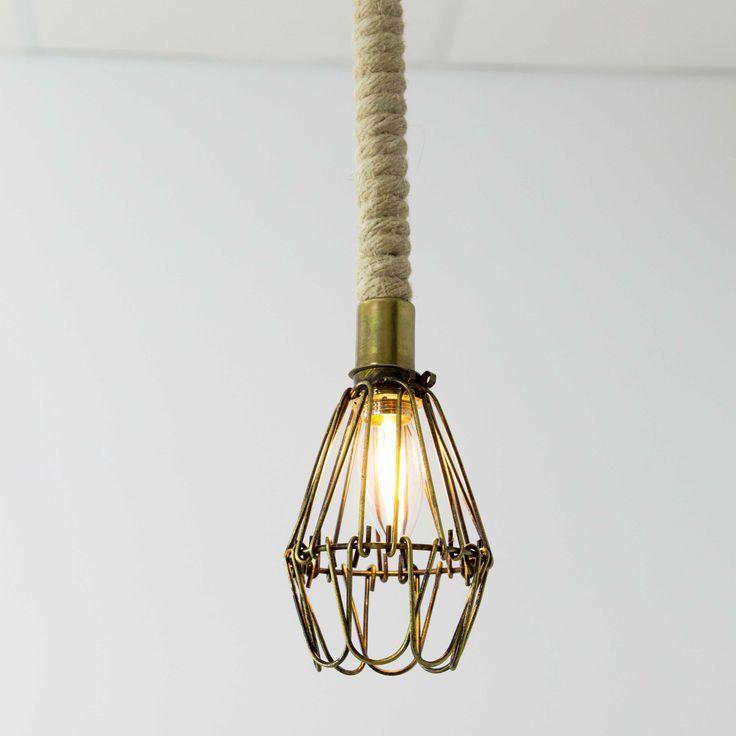 M s de 25 ideas incre bles sobre lampara cuerda en - Lamparas de escalera ...