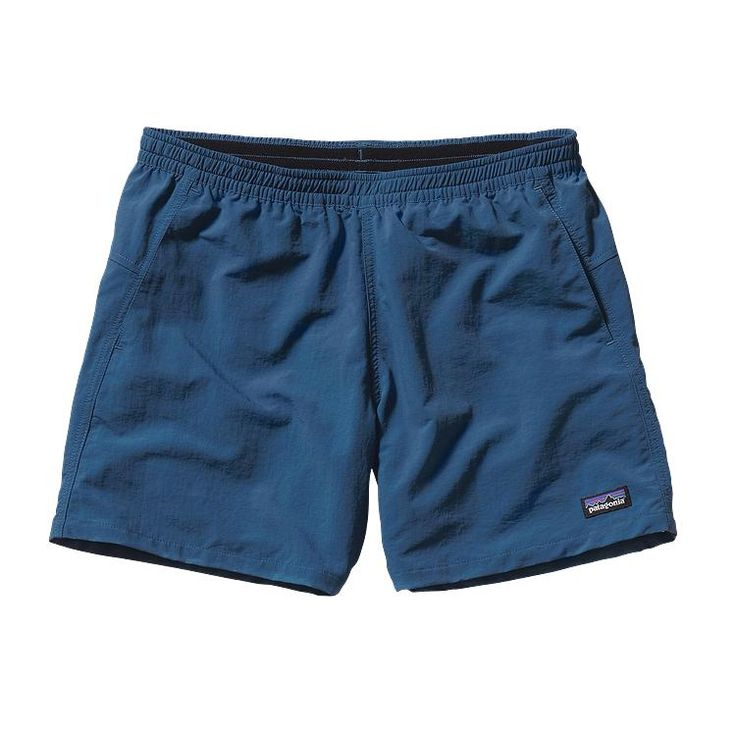 """Patagonia's classic nylon Baggies™ are old school and still cool; 5"""" inseam."""