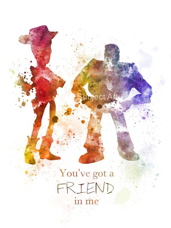 Toy Story Quote ART PRINT illustration Woody and by SubjectArt