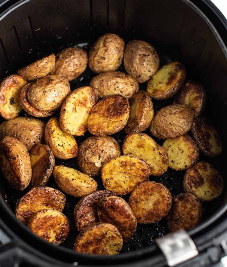 air fryer roasted potatoes in 2020 Potato side dishes