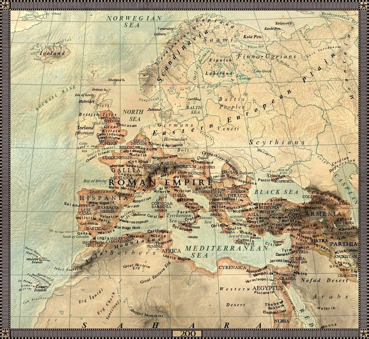 Europe in 200 AD by JaySimons on
