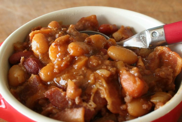 Cowboy Baked Beans W Hamburger | Cheers to Happy: 3 Bean Casserole...