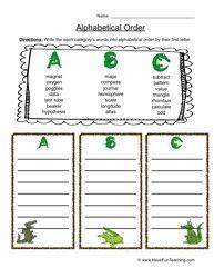 how to teach alphabetical order to grade 1