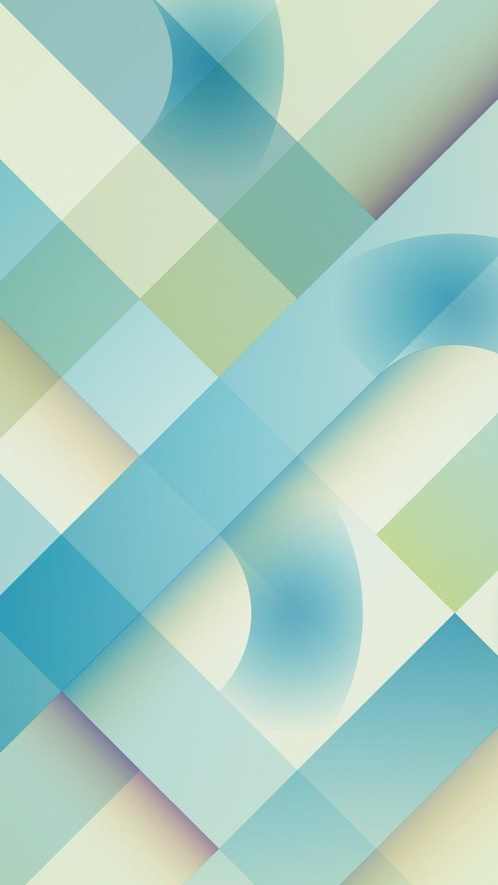 Blue and Mint Abstract Wallpaper