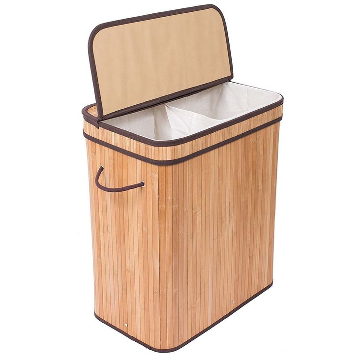 Sort laundry and get ready for laundry day with this handsome hamper. Two handles on this bamboo hamper's sides ensure easy transport, and the removable liner machine washes for easy upkeep. Includes
