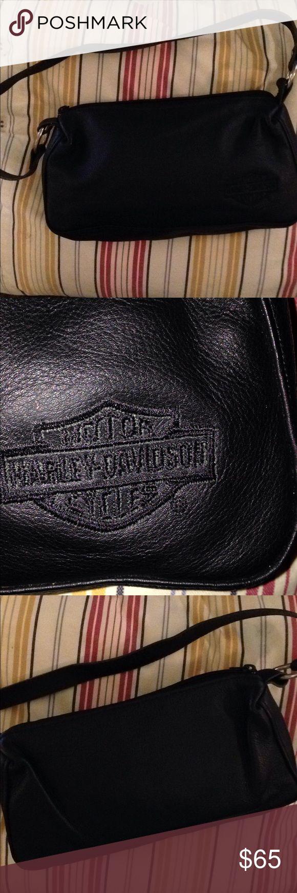 Harley Davison over shoulder black bag Harley Davison over shoulder black bag  across 9.5 by5.5 inches Harley Davison Bags Shoulder Bags