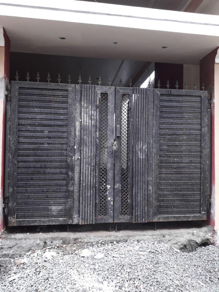 MS main gate (double folding) | Main gate design, Door ...