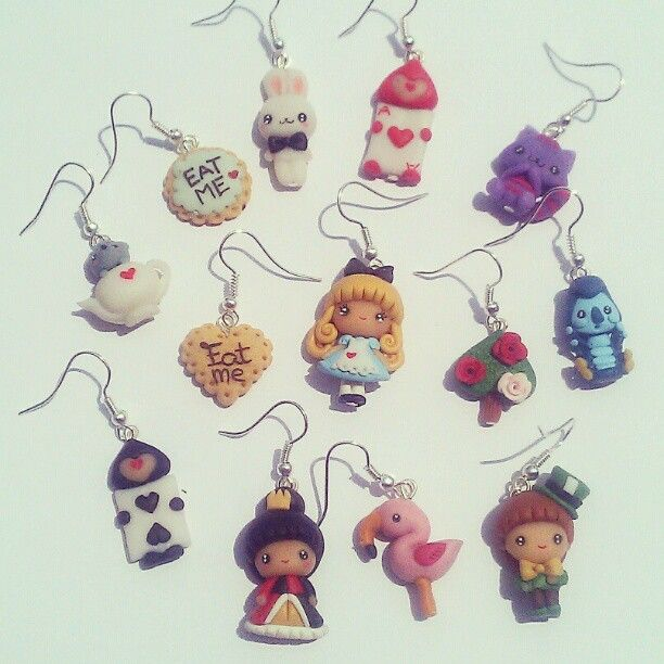 #handmade #alice #earrings #polymerclay #fimo #kawaii #cute | Use Instagram online! Websta is the Best Instagram Web Viewer!