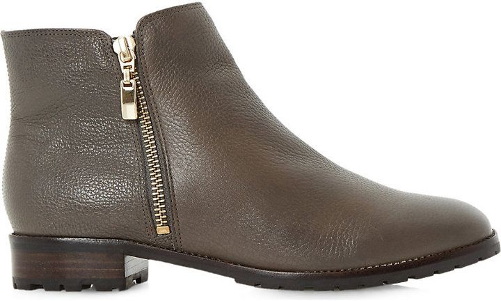 Dune Porta Leather Ankle Boots