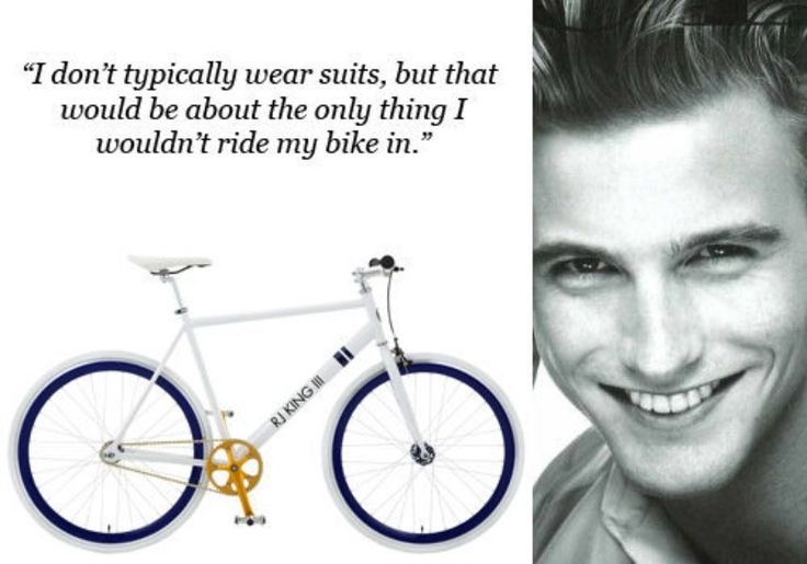 Model RJ King in NY Racked sharing his fixie fashion with his custom Solé cycle for New York Fashion Week #solebicycles #NYFW