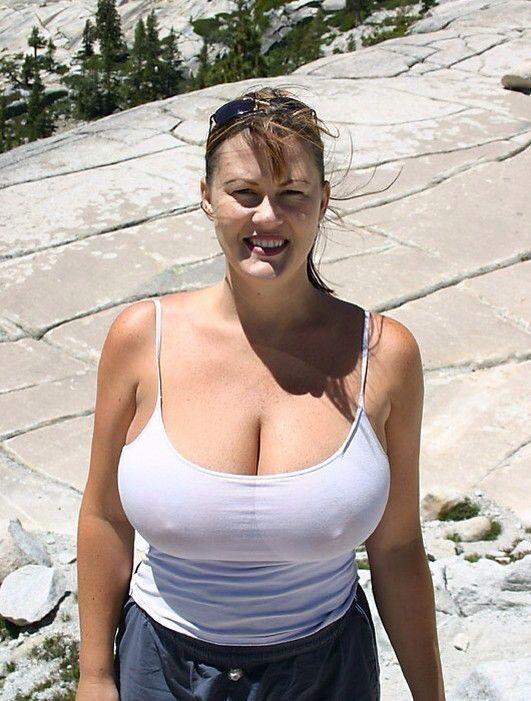 Big tits nude beach