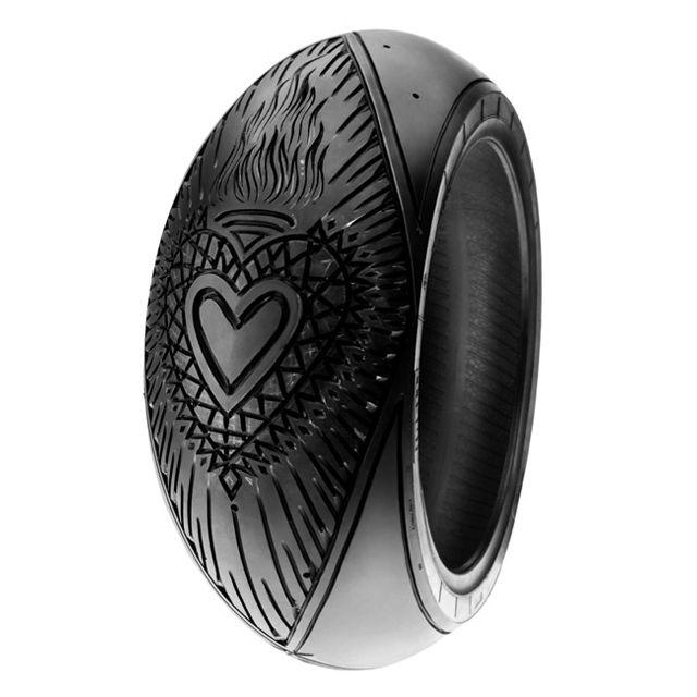 Tattooed Pirelli Tyre by Scott Campbell