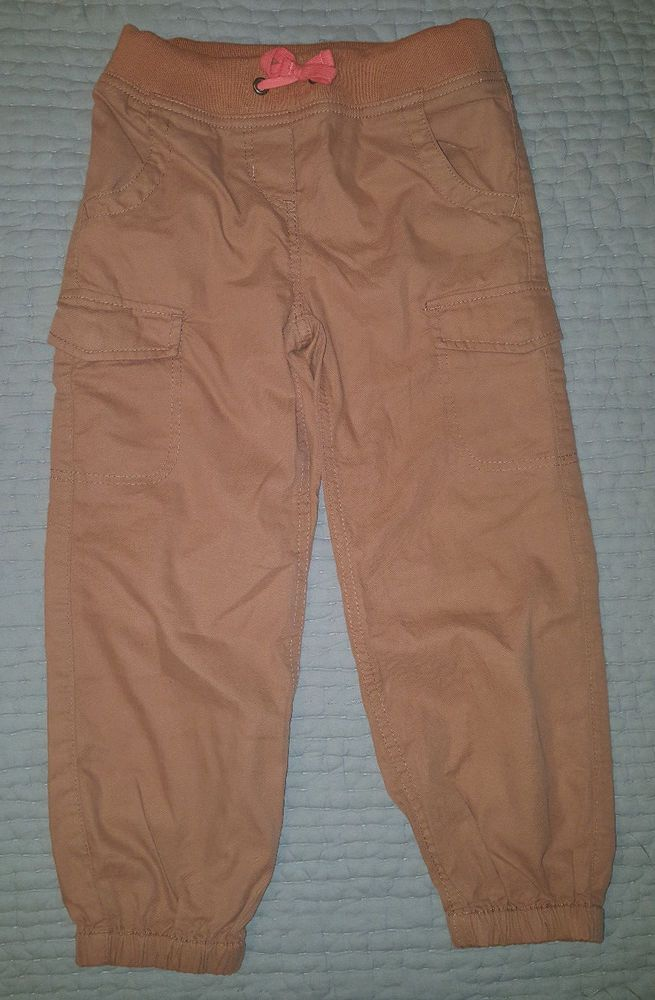 Girls Mini Boden Cargo Chino Joggers Pants 5Y Camel Brown NWOT  | eBay