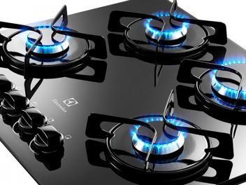 Cooktop 4 Bocas a Gás Electrolux - GC60V Superautomático com Queimadores Selados
