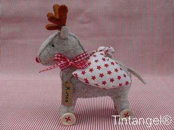 Rolling Reindeer van Tintangel op Etsy