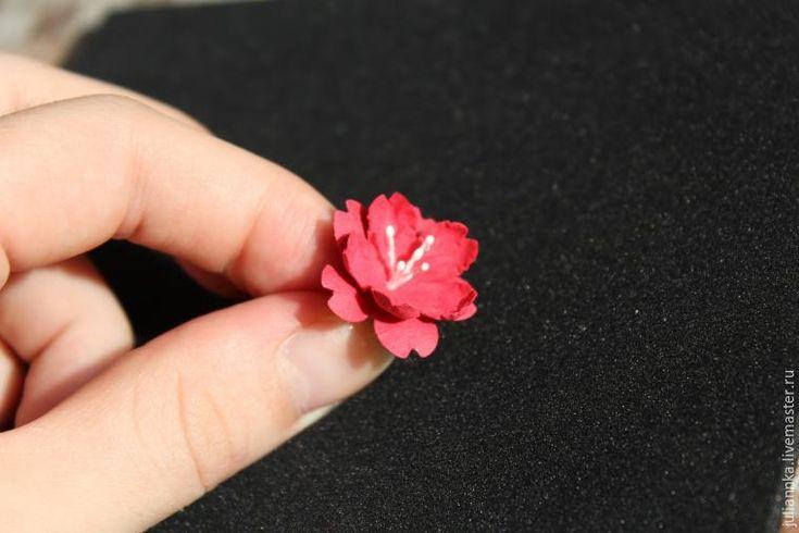 Делаем цветки вишни из бумаги для пастели - Ярмарка Мастеров - ручная работа, handmade