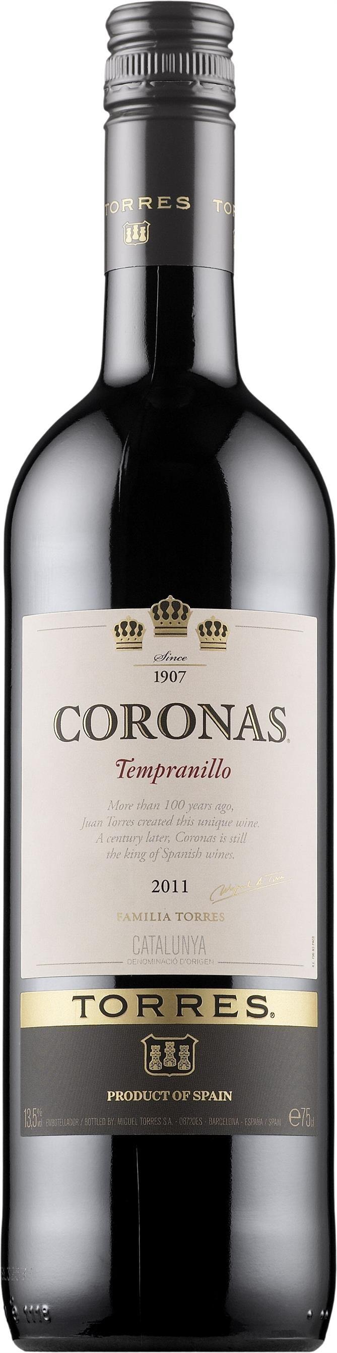 Torres Coronas Tempranillo 2012