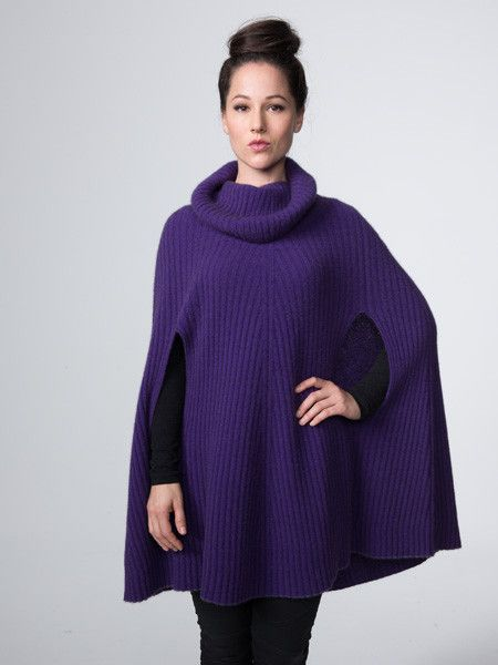 Possumdown Cowl Neck Poncho from Possumdown