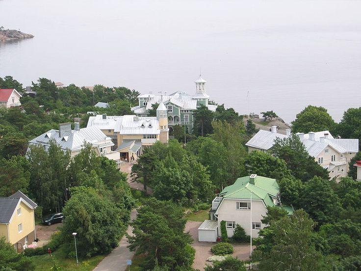 Old villas in Hanko, Finland