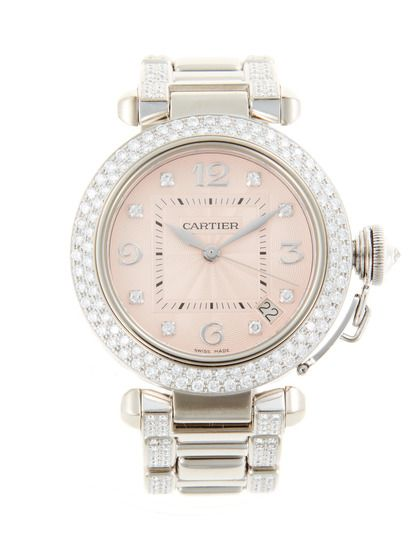 Ok this takes the cake - 47k!    Cartier Pasha White Gold & Diamond Watch, 36mm    NZ$47,278.80 Gilt (incl. Duties and GST)