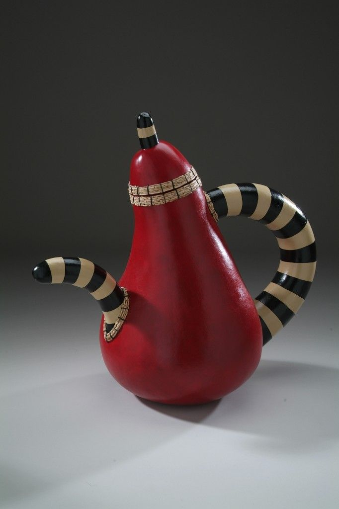 "*Gourd Art - ""Partea Pot"" by Don Weeke"