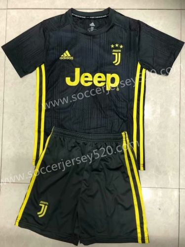 1bf3ed7bd 2018-19 Juventus 2nd Away Dark Gray Kids/Youth Soccer Uniform ...