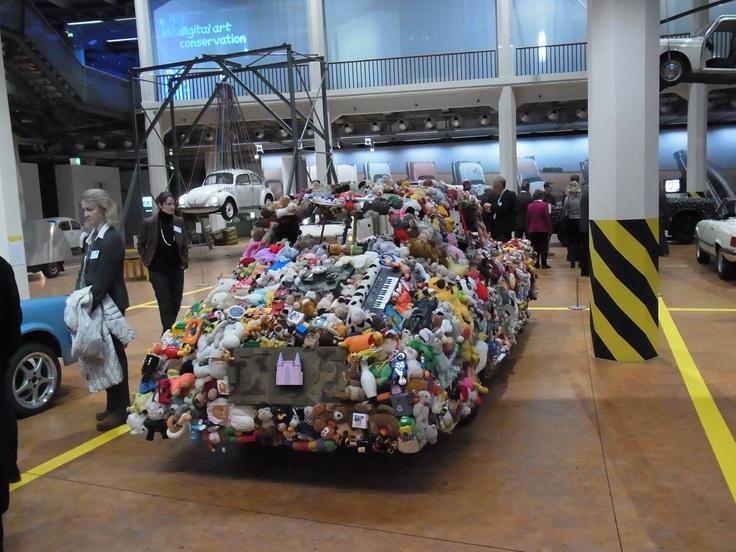 "Museum Karlsruhe ZKM ""Car Culture"".  Plush toys car."