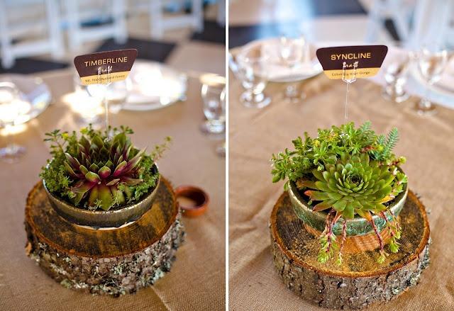 Rustic table decor #centerpieces